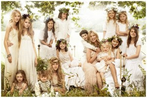 Kate Moss flower girls