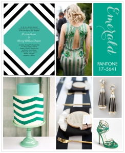 pantone emerald inspiration board